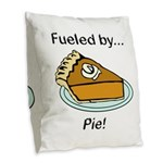 Fueled by Pie Burlap Throw Pillow