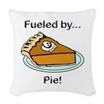 Fueled by Pie Woven Throw Pillow