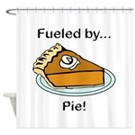 Fueled by Pie Shower Curtain