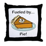 Fueled by Pie Throw Pillow
