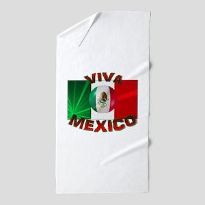 Mexico-flag3 Beach Towel