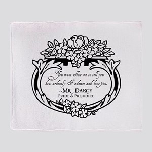 Mr Darcy Pride and Prejudice Throw Blanket