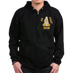 Gold Go Fight Win Zip Hoodie