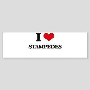 I love Stampedes Bumper Sticker