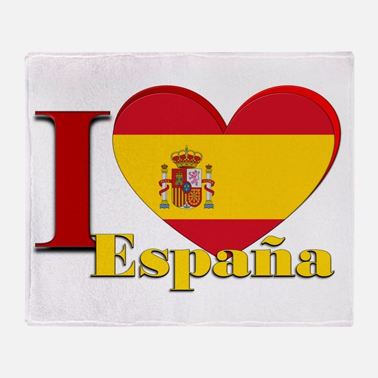 I love Espana - Spain Throw Blanket