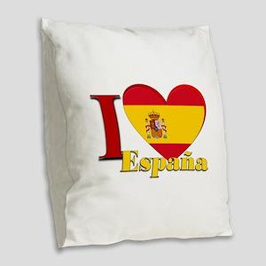 I love Espana - Spain Burlap Throw Pillow