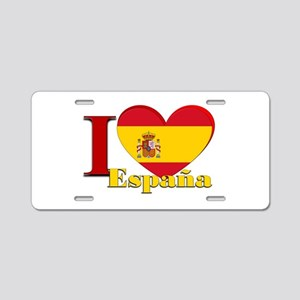 I love Espana - Spain Aluminum License Plate