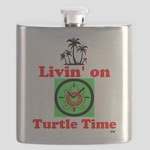 Livin On Turtle Time Flask