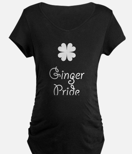 Ginger Pride With Shamrock Maternity T-Shirt