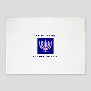 Funny Half Jewish the Bottom 1/2 5'x7'Area Rug