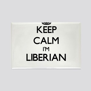Keep Calm I'm Liberian Magnets