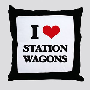 I love Station Wagons Throw Pillow