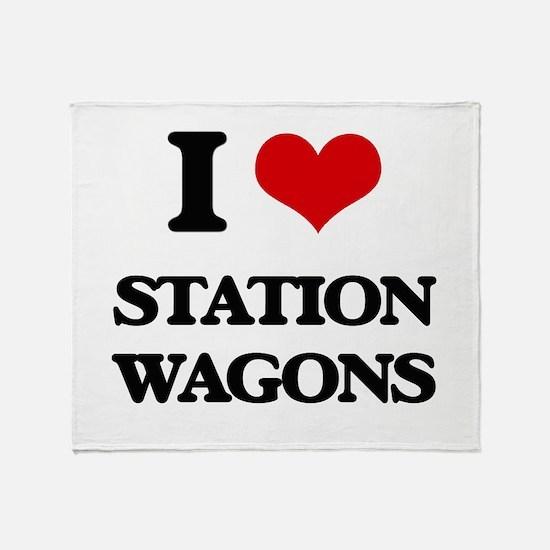 I love Station Wagons Throw Blanket