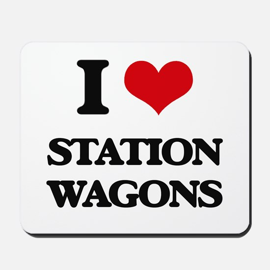 I love Station Wagons Mousepad