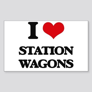I love Station Wagons Sticker