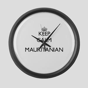 Keep Calm I'm Mauritanian Large Wall Clock