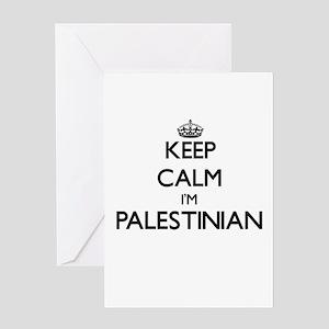 Keep Calm I'm Palestinian Greeting Cards