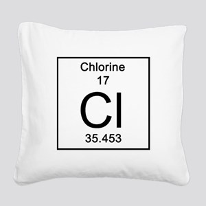 17. Chlorine Square Canvas Pillow