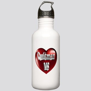 Quitman, MS Heart Stainless Water Bottle 1.0L