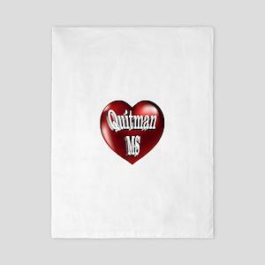 Quitman, MS Heart Twin Duvet
