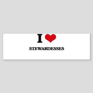 I love Stewardesses Bumper Sticker