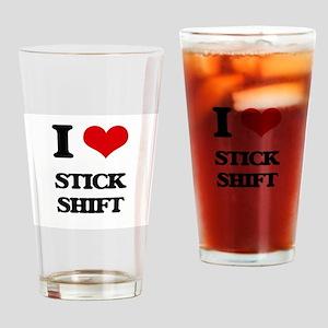 I love Stick Shift Drinking Glass