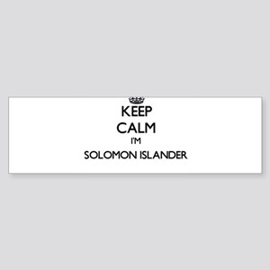 Keep Calm I'm Solomon Islander Bumper Sticker