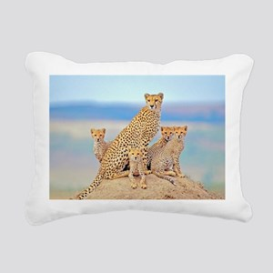 Cheetah Family Rectangular Canvas Pillow
