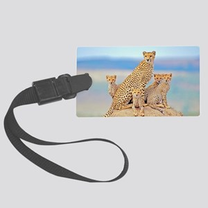 Cheetah Family Large Luggage Tag