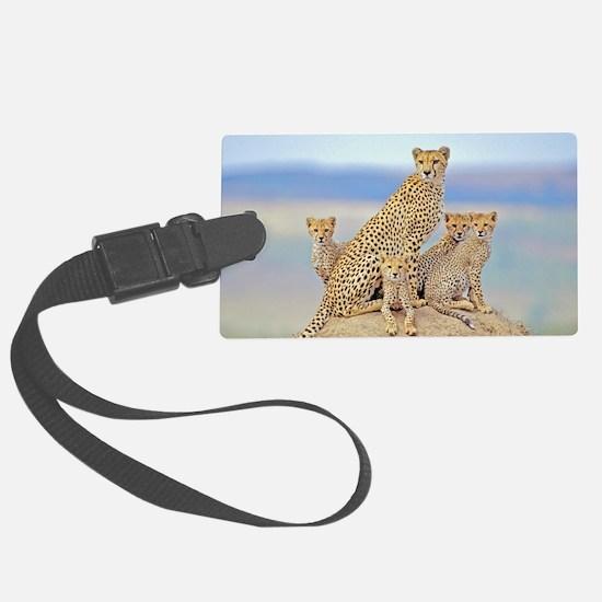 Cheetah Family Luggage Tag