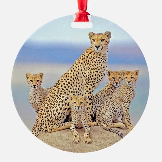 Cheetah Family Ornament
