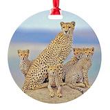 Cheetahs Round Ornament