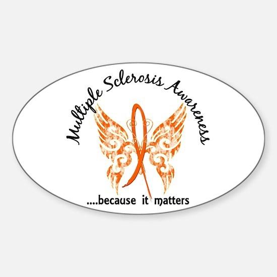 MS Butterfly 6.1 Sticker (Oval)