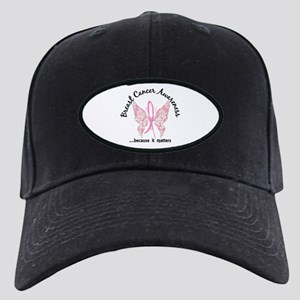 Breast Cancer Butterfly 6.1 Black Cap