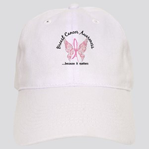 Breast Cancer Butterfly 6.1 Cap