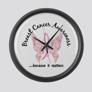 Breast Cancer Butterfly 6.1 Large Wall Clock