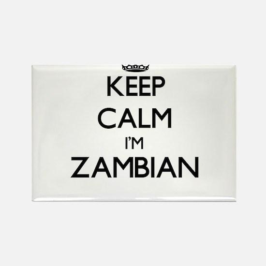 Keep Calm I'm Zambian Magnets