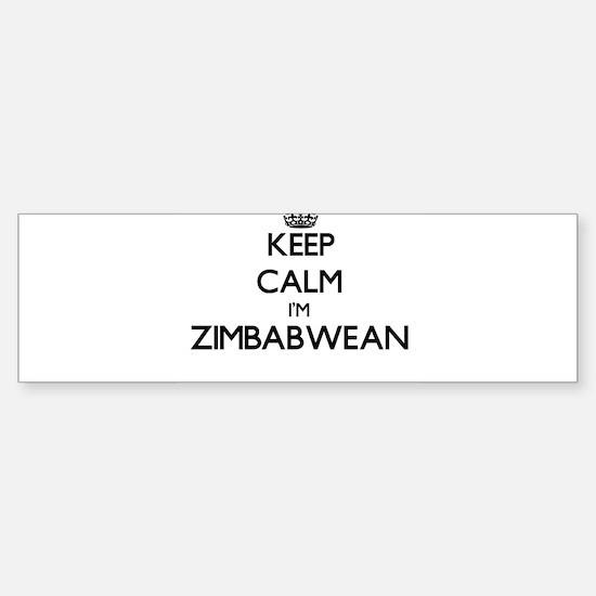 Keep Calm I'm Zimbabwean Bumper Bumper Bumper Sticker