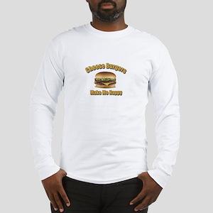 Cheese Burgers Design 1b Long Sleeve T-Shirt