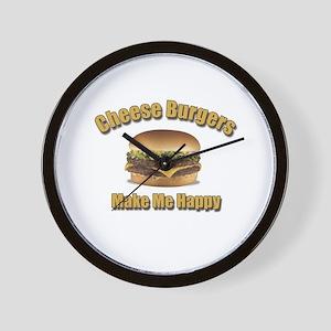 Cheese Burgers Design 1b Wall Clock