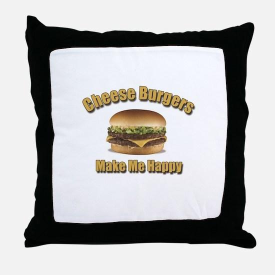 Cheese Burgers Design 1b Throw Pillow