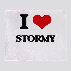 I love Stormy Throw Blanket