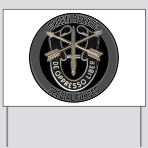 Special Forces Green Berets Yard Sign