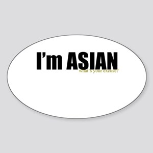 i'm asian Oval Sticker