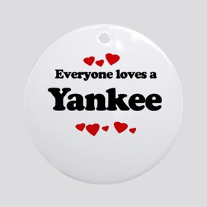 Everyone loves a Yankee Ornament (Round)