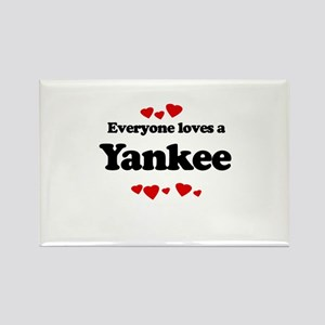 Everyone loves a Yankee Rectangle Magnet