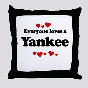 Everyone loves a Yankee Throw Pillow