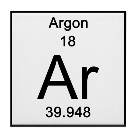 18 Argon Tile Coaster By Science Lady