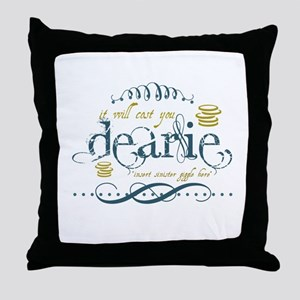 Sinister Giggle Throw Pillow