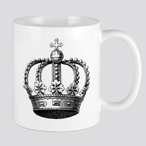 King's Crown Black White Mug